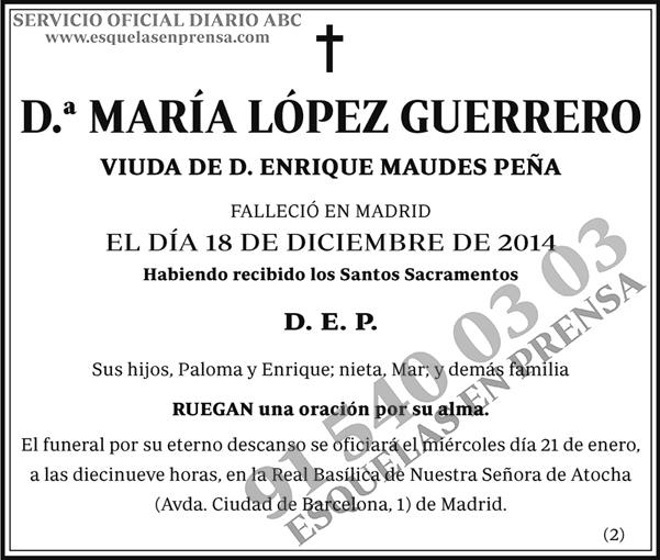 María López Guerrero